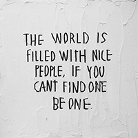Be a kind person